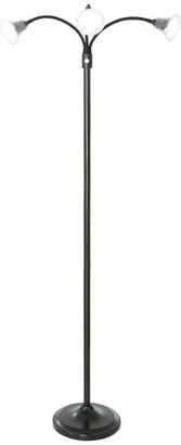 Lavish Home 3 Head Adjustable LED Floor Lamp, Touch Switch & Dimmer, Black, by Lav