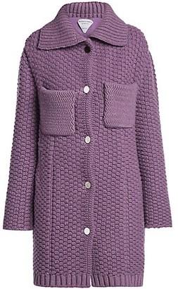 Bottega Veneta Textured Wool-Blend Knit Long Coat