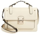 Valentino Small Cabana Leather Satchel - White