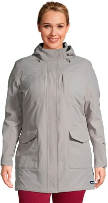 Lands' End Plus Size Classic Squall Hooded Raincoat