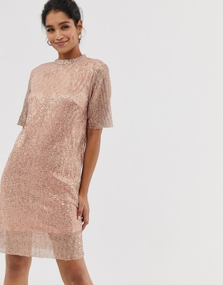 Vila sequin shift dress