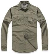 Lanbaosi Men's Lightweight Quick Dry Shirt Convertible Mountain Cargo T-shirt