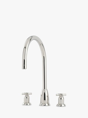 Perrin & Rowe Callisto 4886 2 Lever 3 Hole Mixer Kitchen Tap