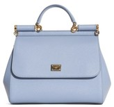 Dolce & Gabbana 'Small Miss Sicily' Leather Satchel - Purple