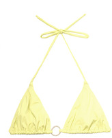 Tara Matthews Ring detail triangle bikini top