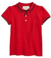 Gucci Girl's Grosgrian Ribbon Polo