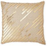 cloud 9 Gold Faux Leather Lines Pillow