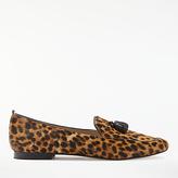 Boden Ines Tassel Loafers, Leopard