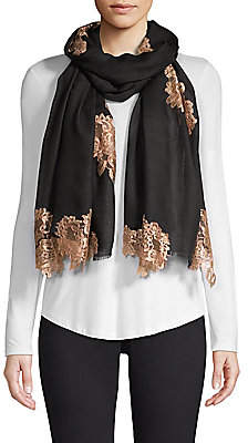 Bindya Women's Evening Lace Wool & Silk Scarf