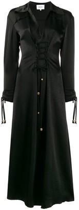 Nanushka polo-neck fitted midi dress