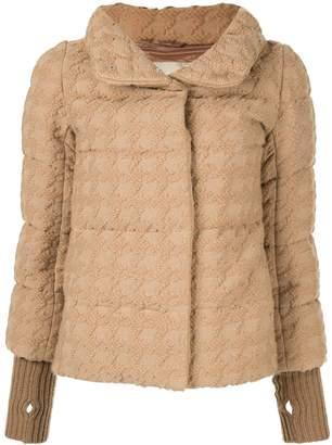 Herno houndstooth bomber jacket