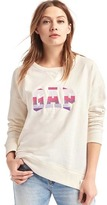 Gap Stripe logo applique slouchy sweatshirt