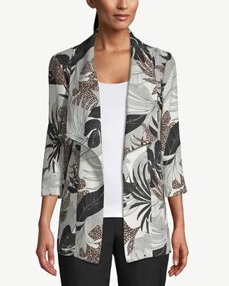 Chico's Tropical-Print Draped Jacket