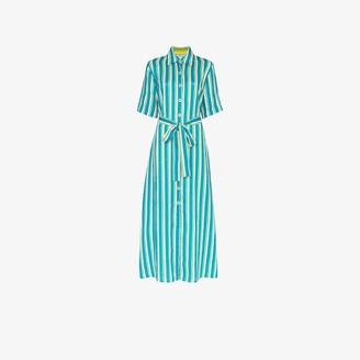 Evi Grintela Sunflower striped linen shirt dress