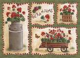 ASSOCIATED WEAVERS Custom Printed Rugs GERANIUMS Geraniums Rug