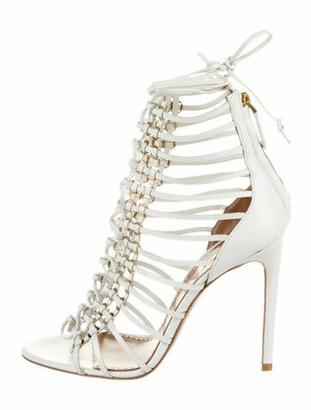 Alaia Leather Sandals w/ Tags White