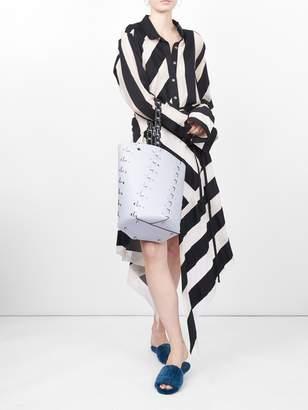 Marques Almeida Marques'Almeida spiral asymmetric stripe skirt
