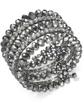 INC International Concepts Hematite-Tone Coil Wrap Beaded Bracelet, Only at Macy's