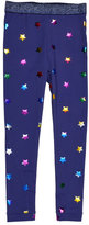 Stella McCartney Tula Star-Print Leggings, Blue, Size 4-14