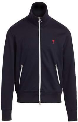 Ami Paris De Coeur Front-Zip Sweatshirt
