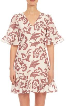 Rebecca Taylor Amea Floral Ruffle Dress