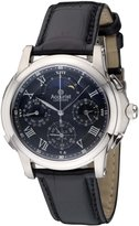 Accurist Grand Complication Men's Quartz Watch with Black Dial Chronograph Display and Black Leather Strap GMT322B