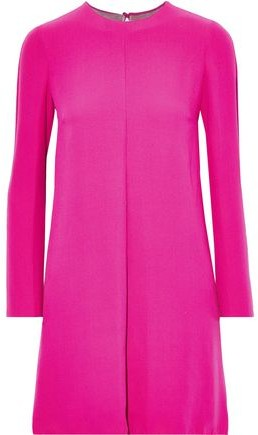 Valentino Layered Silk-crepe Mini Dress