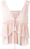 See by Chloe layered ruffle blouse - women - Cotton/Polyester - XS