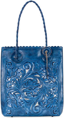 Patricia Nash Cavo Burnished Tooled Leather Tote
