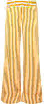 Maggie Marilyn - Endless Optimist Striped Satin-twill Wide-leg Pants - Marigold