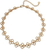 "Anne Klein Gold-Tone Collar Necklace, 16"" + 4"" Extender"
