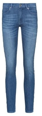 HUGO BOSS CHARLIE super-skinny-fit jeans with ring-stud side seams