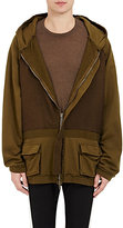 Haider Ackermann Men's Perth Hoodie-BROWN, DARK GREEN