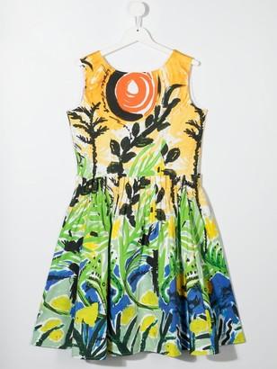 Marni TEEN floral print dress