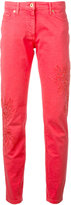 Blumarine slim fit trousers - women - Cotton/Spandex/Elastane - 40