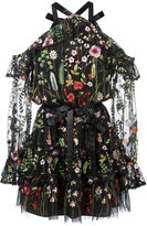 Alexis floral embroidery sheer dress - women - Polyester - S