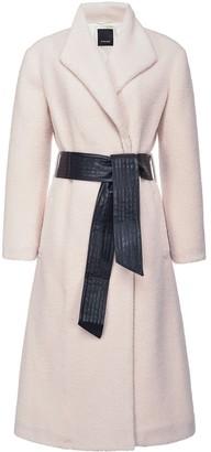 Pinko Tie-Waist Mid-Length Coat