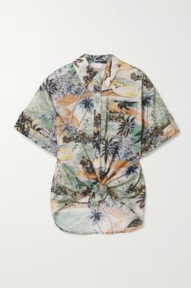 Zimmermann Juliette Printed Cotton-voile Shirt - Gray green