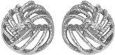 14K Gold Rope Design Love Knot Post Earrings