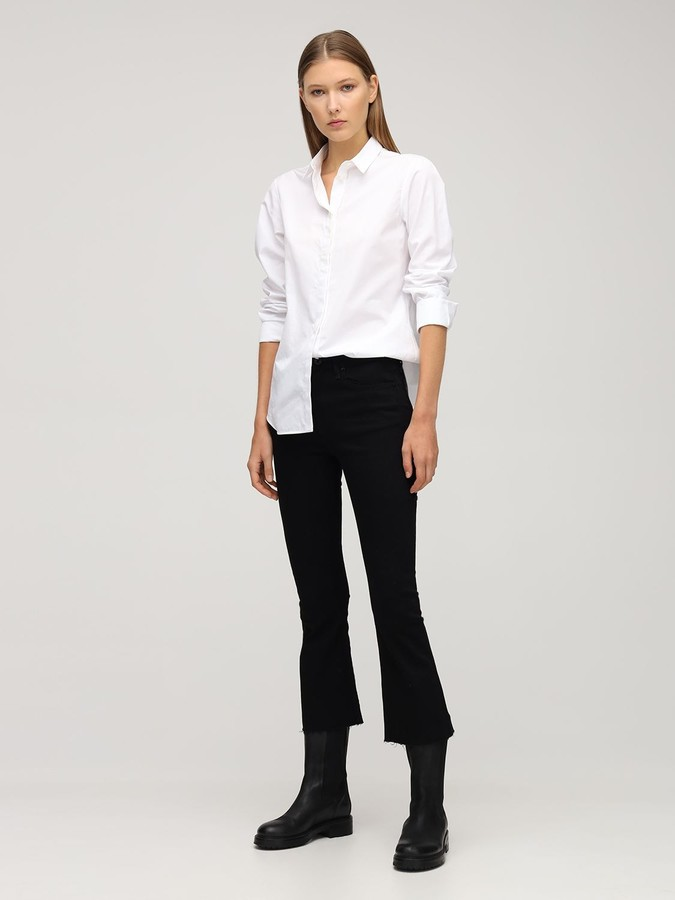 Thumbnail for your product : Rag & Bone Flared Cotton Blend Denim Crop Jeans