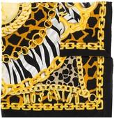 Moschino animal chain print scarf