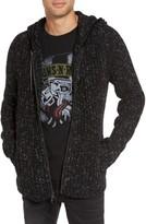 John Varvatos Men's Ribbed Wool Zip Hoodie