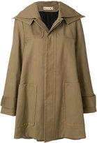 Marni hooded swing coat