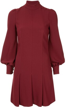 Proenza Schouler Long Sleeve Crepe Dress