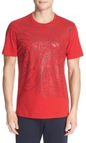 Versace Men's 'Medusa' Metallic Spray Graphic T-Shirt