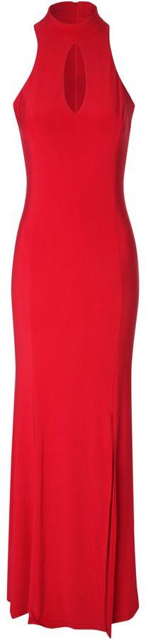 Jane Norman Side Split Halter Neck Dress