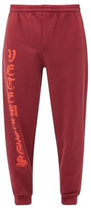 Vetements Anarchy Logo-print Cotton-blend Track Pants - Red