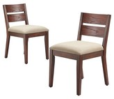 Threshold Parsons Upholstered Slat Back Dining Chair - Espresso (Set of 2