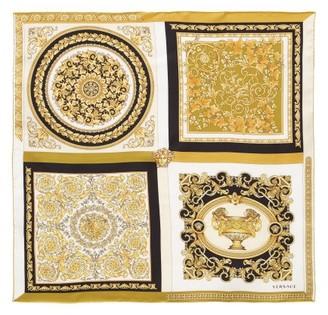 Versace Tile-print Silk Scarf - Gold Multi