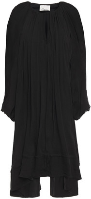 3.1 Phillip Lim Asymmetric Gathered Silk-chiffon Dress